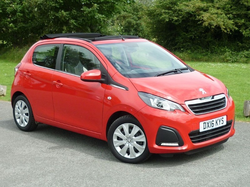 used Peugeot 108 ACTIVE CONVERTIBLE TOP AUTO WITH 2 YEAR FREE SERVICING* in wirral-cheshire