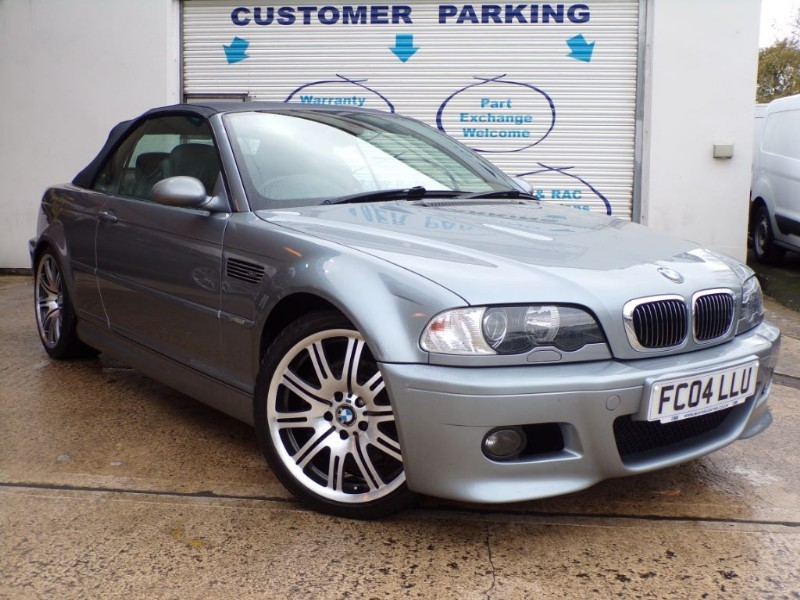 """used BMW M3 SMG convertible with 19"""" alloys in wiltshire"""