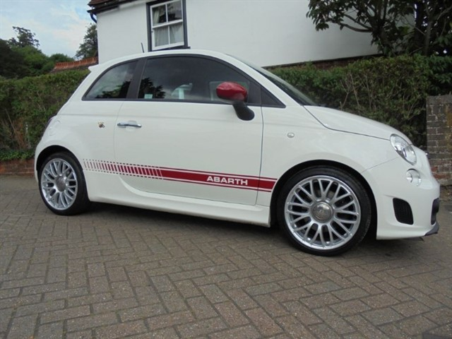 used Abarth 500 Red leather 28000 miles FSH in surrey-sussex
