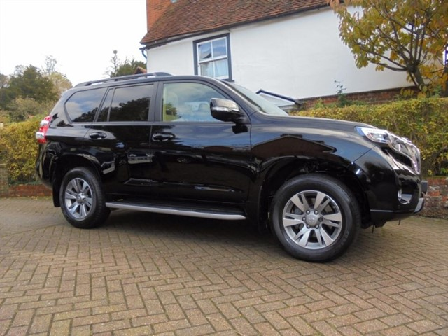 used Toyota Land Cruiser D-4D INVINCIBLE 25000 MLS SAT/NAV-REAR DVD+++ in surrey-sussex
