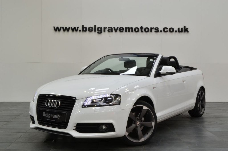 audi a3 tdi 140 s line black edition convertible 53 mpg. Black Bedroom Furniture Sets. Home Design Ideas