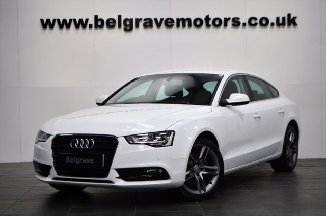 "used Audi A5 TDI SE TECHNIK SAT NAV 18"" S LINE ALLOYS FULL LEATHER 5DR 64+MPG in sheffield"