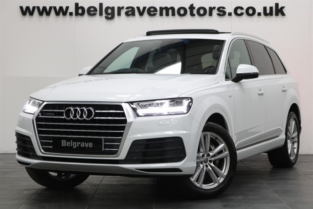 used Audi Q7 TDI QUATTRO S LINE PAN ROOF VERY RARE NEW MODEL 7 SEATS 4X4 48+MPG in sheffield