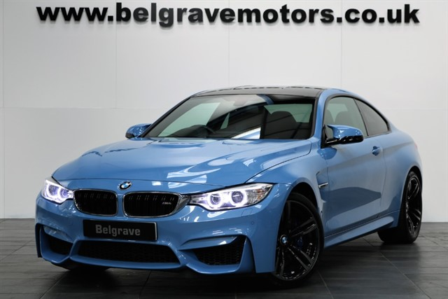 used BMW M4 DCT HEADS UP DISPLAY HARMAN KARDON AUTO HUGE SPEC COUPE 2DR 425 BHP in sheffield