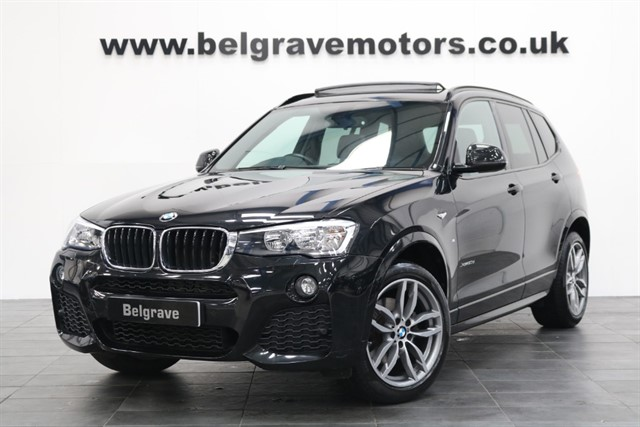 used BMW X3 XDRIVE20D M SPORT AUTO PAN ROOF LOW MILES HUGE SPEC 4X4 XDRIVE 190 BHP 54+MPG in sheffield