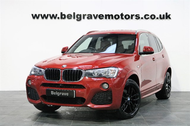 used BMW X3 XDRIVE20D M SPORT AUTO GREAT SPEC 4X4 190 BHP 54+MPG in sheffield