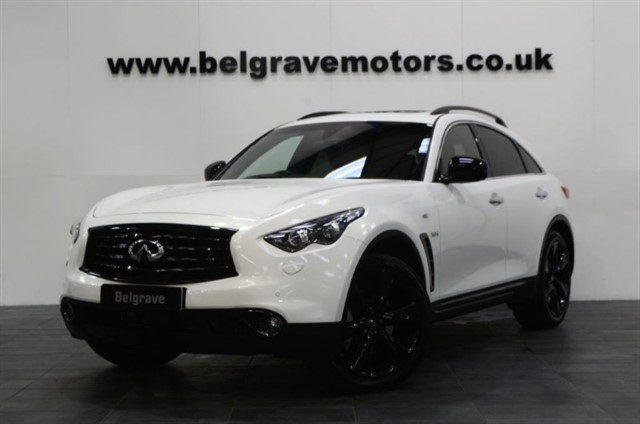 used Infiniti QX70 S DESIGN D 4x4 MEGA SPEC FULL LEATHER SAT NAV 21