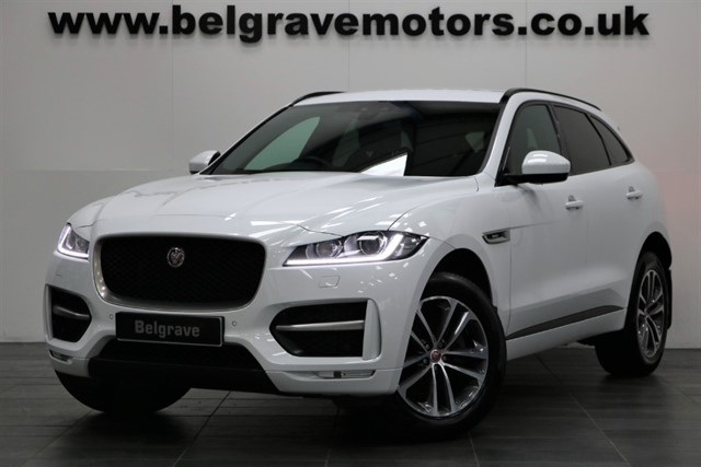 used Jaguar F-Pace R-SPORT AUTO AWD SAT NAV FULL LEATHER PRIVACY 53+MPG in sheffield