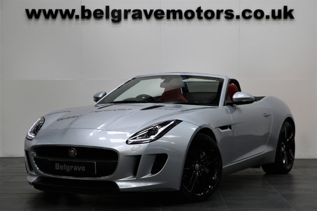 used Jaguar F-Type V6 SUPERCHARGED MEGA SPEC SPORTS EXHAUST RED LEATHER in sheffield