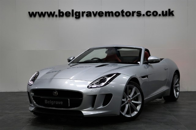 used Jaguar F-Type V6 340 BHP MEGA SPEC SAT NAV SWITCHABLE EXHAUST LEATHER in sheffield