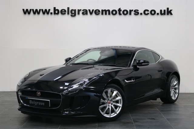 used Jaguar F-Type V6 SUPERCHARGED QUICKSHIFT PAN ROOF FULL LEATHER 340 BHP AUTO COUPE in sheffield