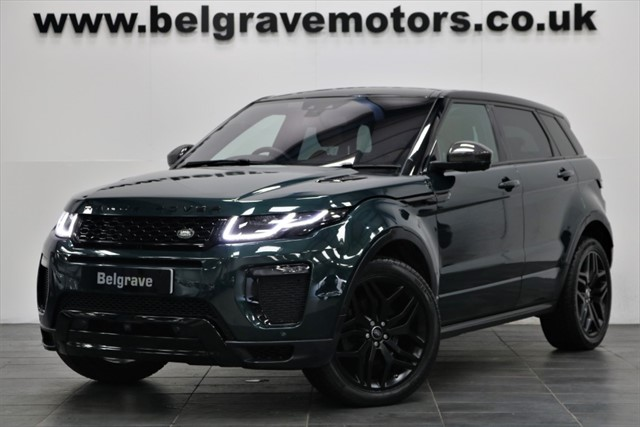 used Land Rover Range Rover Evoque TD4 HSE DYNAMIC LUX AUTO BLACK PACK PAN ROOF HUGE SPEC 180 BHP 5DR 55+MPG in sheffield
