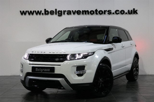 used Land Rover Range Rover Evoque SD4 DYNAMIC LUX PACK REAR ENTERTAINMENT PAN ROOF SAT NAV TV in sheffield