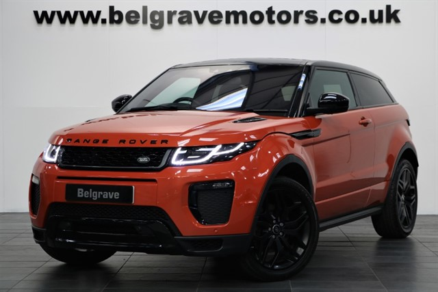 used Land Rover Range Rover Evoque TD4 HSE DYNAMIC AUTO PAN ROOF HUGE SPEC BLACK PACK in sheffield