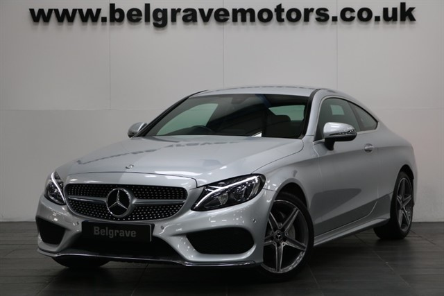 used Mercedes C220 C220D AMG LINE GREAT SPEC SAT NAV LEATHER 2017 COUPE 65+MPG in sheffield