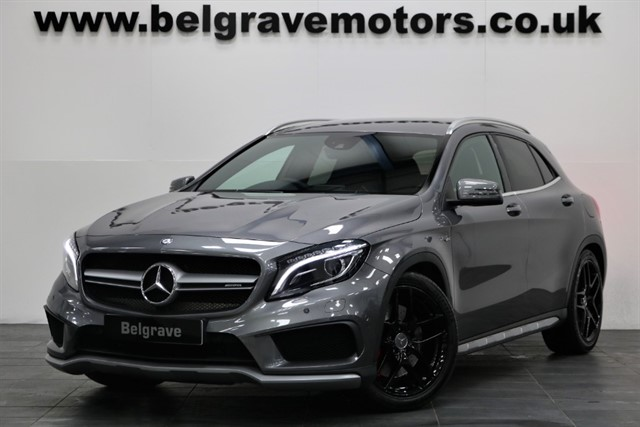 used Mercedes GLA45 AMG 4MATIC COMAND SAT NAV AMG EXCLUSIVE PACK LEATHER 360 BHP 4X4 in sheffield