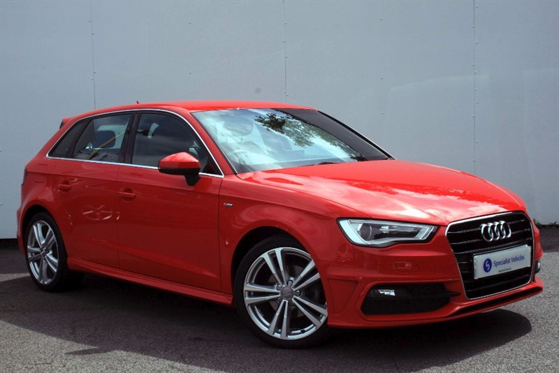 used Audi A3 1.6TDi S LINE~SAT NAV~BLUETOOTH~HEATED SEATS~£0 RFL~1 OWNER~FSH in plymouth-devon