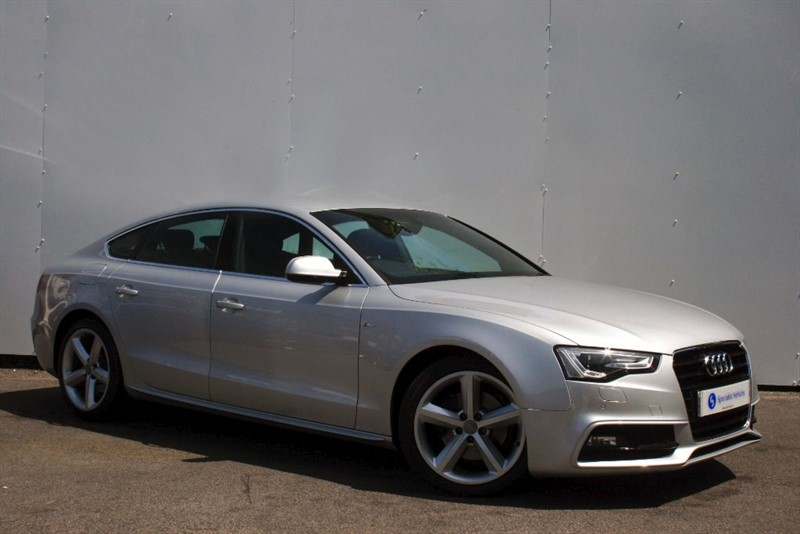 """used Audi A5 2.0TDi S-Line~177 bhp~FULL LEATHER~18""""s~5 SEATS~BLUETOOTH~ONLY £30 ROAD TAX in plymouth-devon"""