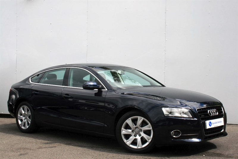 used Audi A5 Sportback 3.0TDi QUATTRO SE ~ HEATED LEATHER~LUMBAR~BLUETOOTH~PEARLESCENT in plymouth-devon