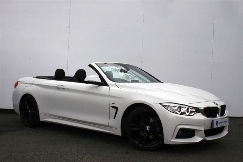 "used BMW 420d M Sport Convertible~SAT NAV~HEATED LEATHER~AIRSCARF~19"" ALLOYS~BMW HISTORY in plymouth-devon"
