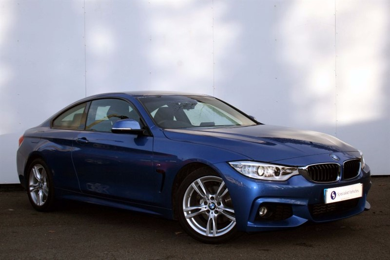"""used BMW 420d M Sport~SAT NAV~HEATED LEATHER~18""""s~XENONS~BLUETOOTH~DAB~USB~CRUISE~F&R PDC in plymouth-devon"""