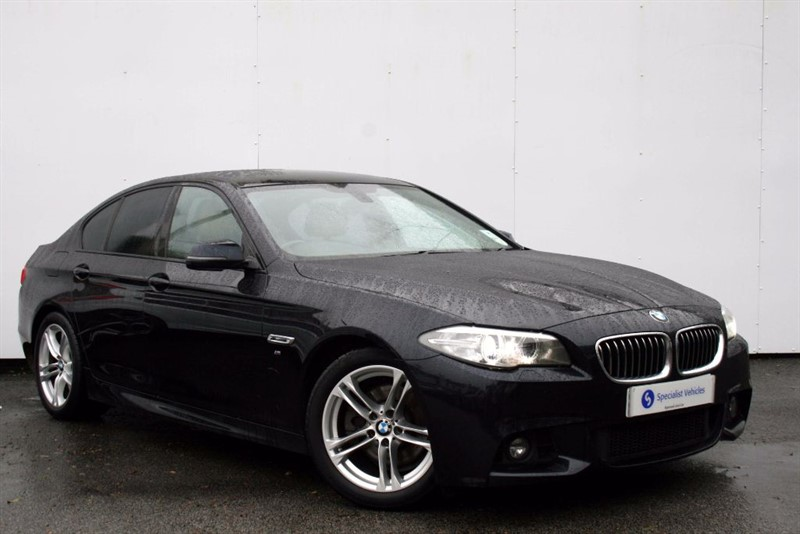 """used BMW 520d M Sport ~ FACELIFT MODEL~SAT NAV~HEATED LEATHER~18""""s~BLUETOOTH~DAB~PDC~FSH in plymouth-devon"""