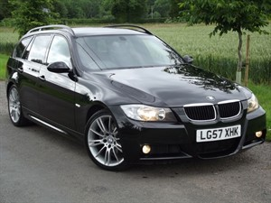 """used BMW 320d M SPORT - FULL BLACK LEATHER - 18"""" MV ALLOYS in oxfordshire"""
