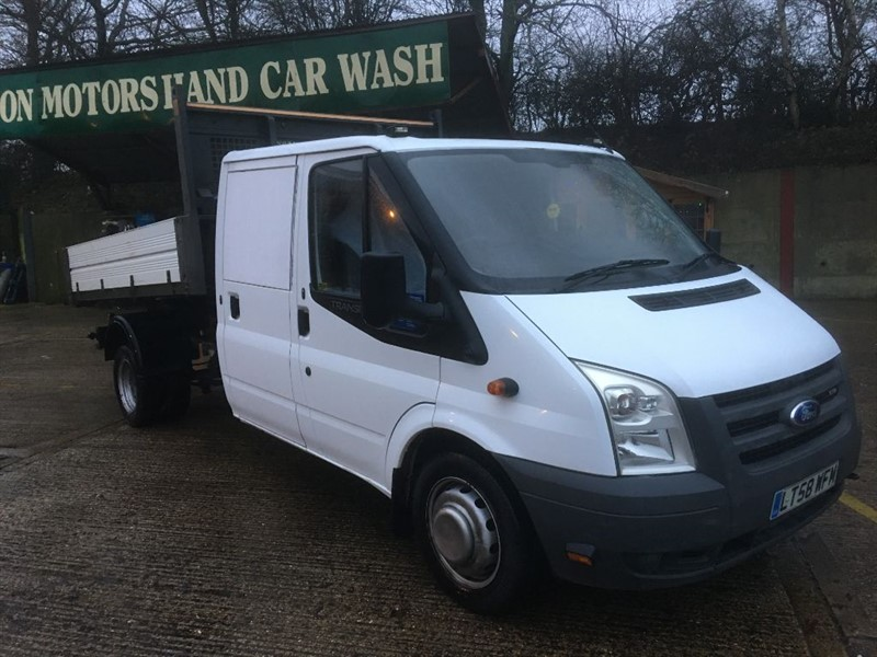 used Ford Transit double cab tipper only 76000 miles in cranleigh-surrey