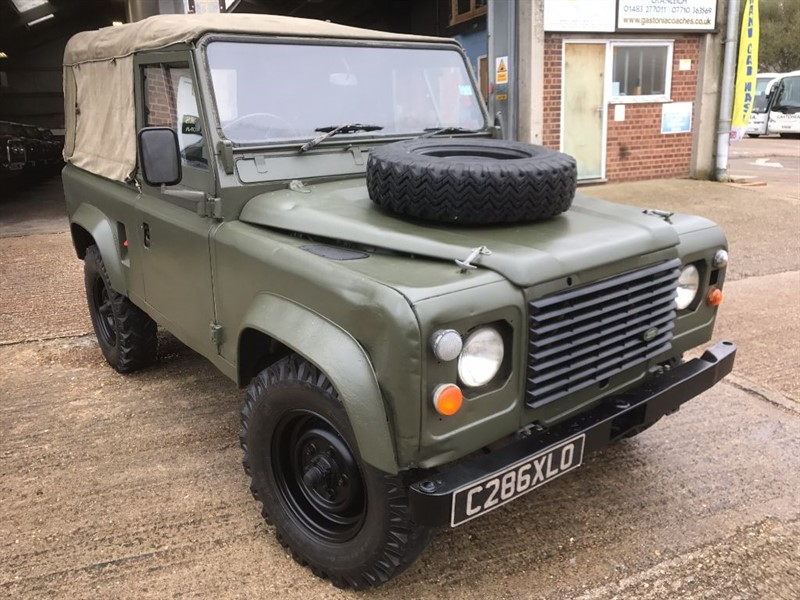 used Land Rover  90 4CYL REG EX ARMY SOFT TOP in cranleigh-surrey