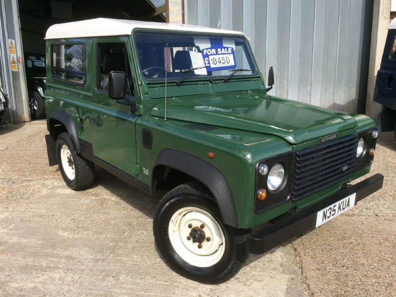 used Land Rover Defender 90 300 TDI WITH REAR WINDOWS AND SEATS in cranleigh-surrey