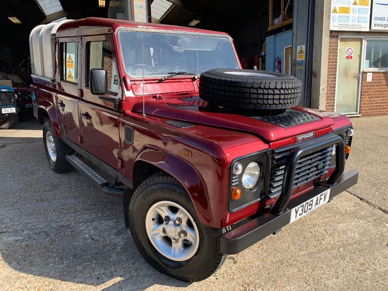 used Land Rover Defender 110 TD5 COUNTY DOUBLE CAB LWB in cranleigh-surrey