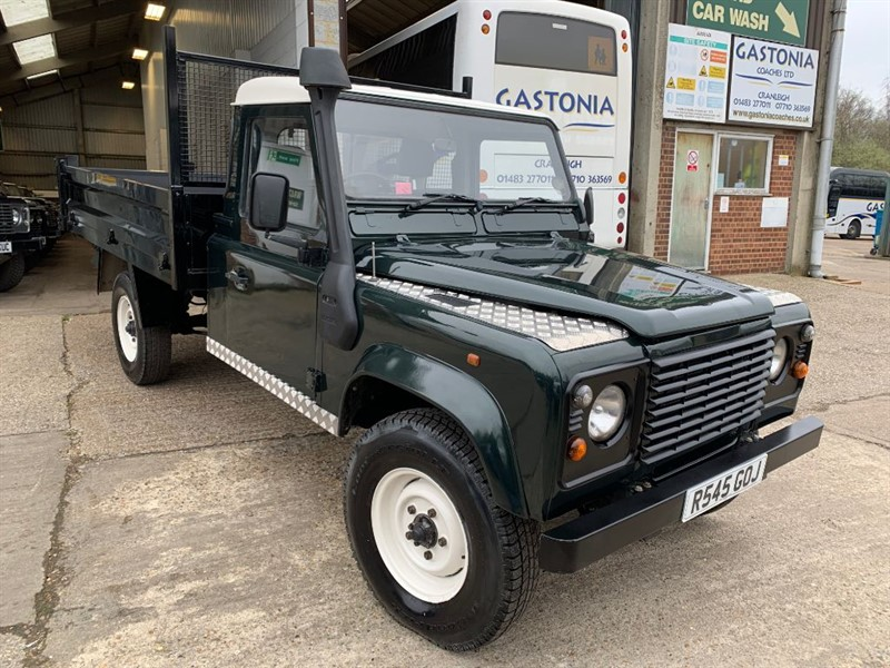 used Land Rover Defender 130 TDI SINGLE CAB TIPPER in cranleigh-surrey