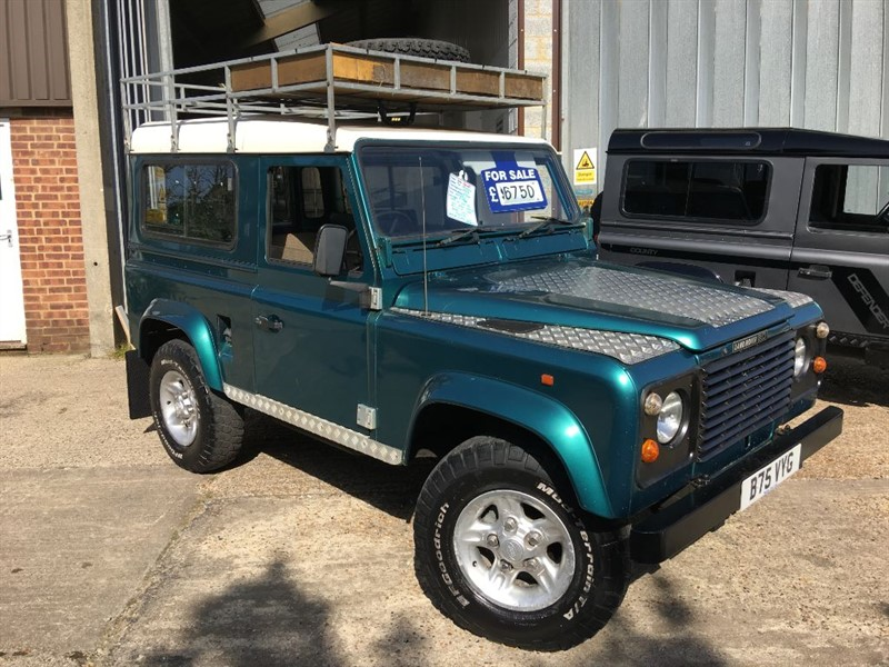 used Land Rover Defender 90 station wagon fitted with a 200 tdi engine in cranleigh-surrey