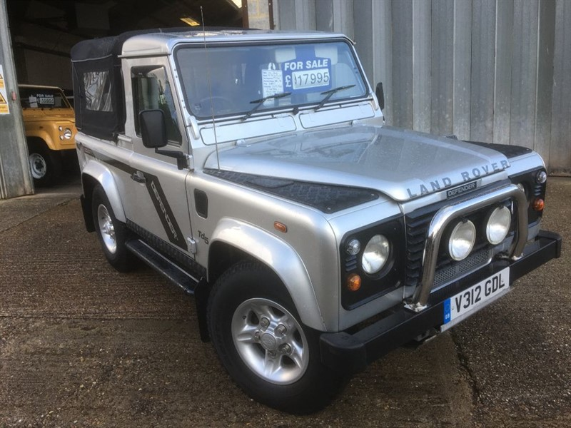 used Land Rover Defender 90 td5 county rare automatic with galvanized chassis in cranleigh-surrey