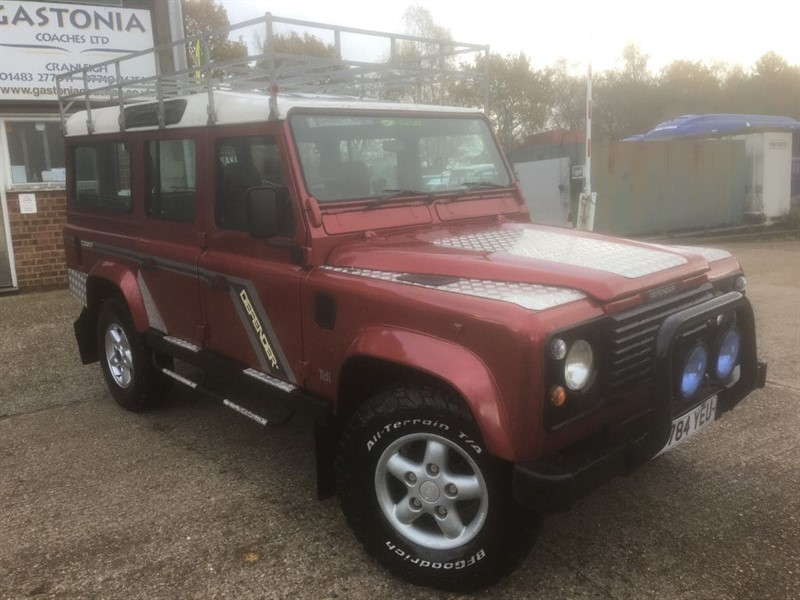 used Land Rover Defender 110 COUNTY STATION WAGON 12 SEATER in cranleigh-surrey