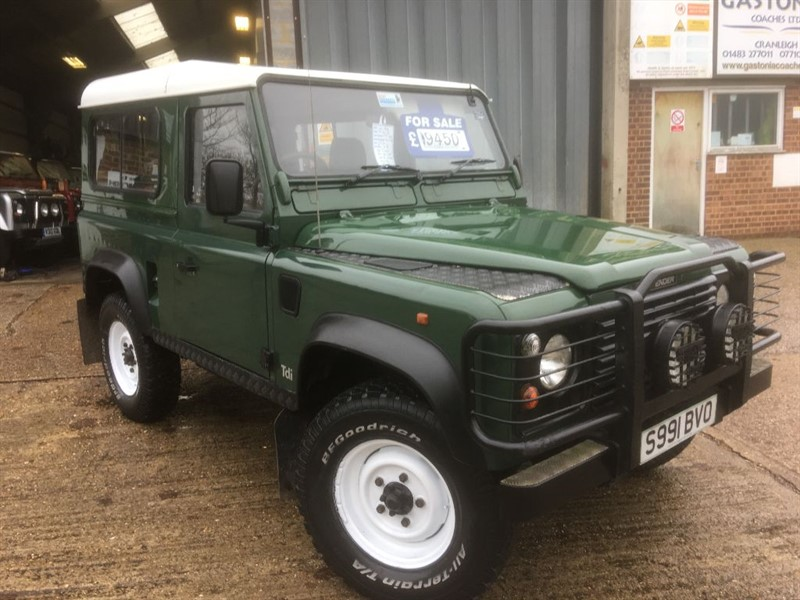 used Land Rover Defender 90 300 tdi station wagon only 124000 miles fsh 2 owners in cranleigh-surrey
