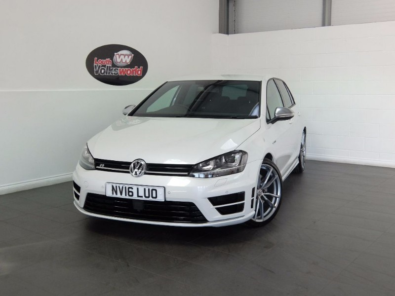 "used VW Golf R DSG FULL LEATHER DISCOVERY NAV 19"" PRETORIA ALLOYS ORYX WHITE PEARL in lincolnshire-for-sale"