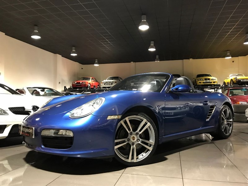 used Porsche Boxster 24V COBALT BLUE WITH BLUE LEATHER 19INCH ALLOYS in lancashire
