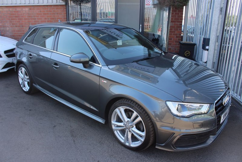 used Audi A3 SPORTBACK TDI S LINE-£20 R TAX-1 OWNER in warrington-cheshire