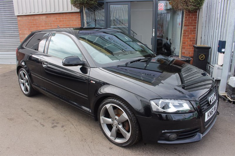 used Audi A3 TDI QUATTRO S LINE BLACK EDITION WITH NAV-BLUETOOTH in warrington-cheshire