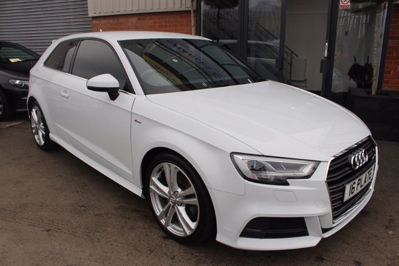 used Audi A3 TDI S LINE-SAT NAV-XENONS in warrington-cheshire