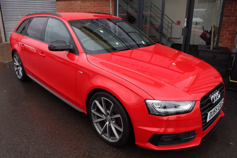 used Audi A4 Avant TDI S LINE BLACK EDITION NAV-1 OWNER-P/SENSORS-BLUETOOTH-HALF LEATHER in warrington-cheshire