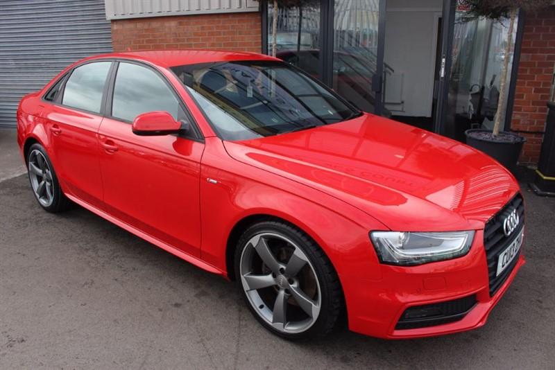 used Audi A4 TDI S LINE BLACK EDITION-SAT NAV-XENONS in warrington-cheshire