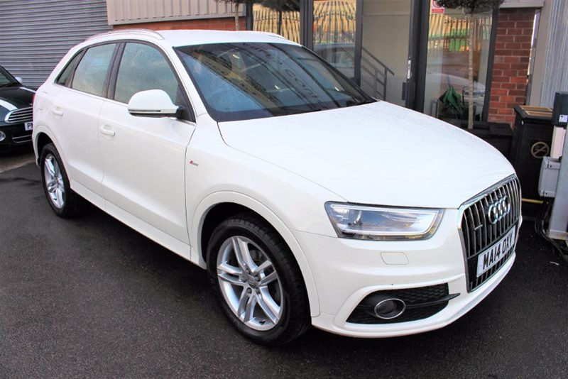 used Audi Q3 TDI QUATTRO S LINE-SAT NAV in warrington-cheshire