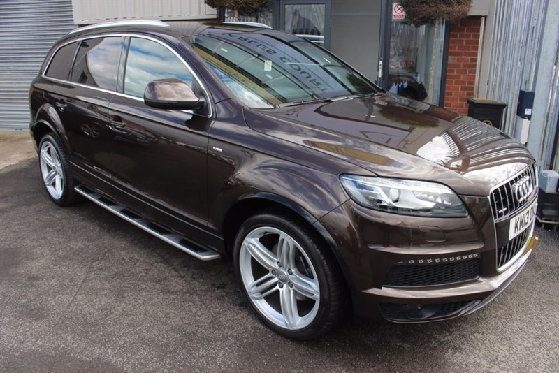 used Audi Q7 TDI QUATTRO S LINE PLUS-REAR CAM-SAT NAV in warrington-cheshire