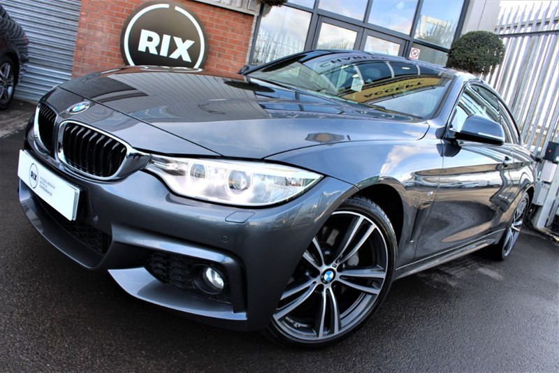 used BMW 435d XDRIVE M SPORT PLUS-SERVICE PACK-CORAL RED LEATHER in warrington-cheshire