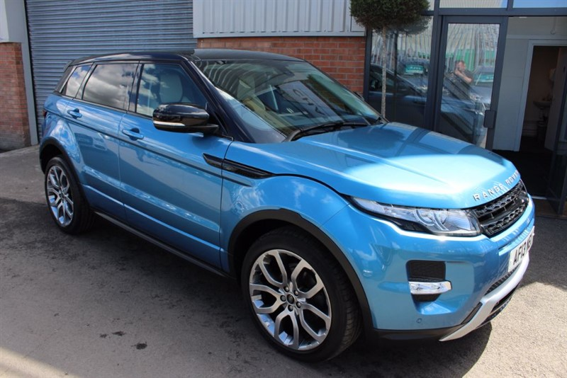 used Land Rover Range Rover Evoque SD4 DYNAMIC-PAN ROOF-TWO TONE LETHER in warrington-cheshire