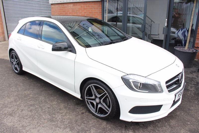 used Mercedes A180 CDI BLUEEFFICIENCY AMG SPORT. NIGHT PACKAGE & PAN ROOF in warrington-cheshire