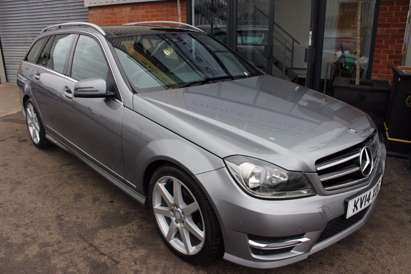 used Mercedes C220 CDI AMG SPORT EDITION PREMIUM PLUS-SPLIT FOLD SEATS-PAN ROOF-REAR CAMERA in warrington-cheshire