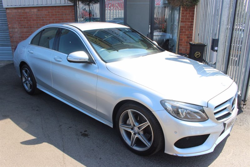 used Mercedes C220 BLUETEC AMG LINE-SAT NAV-REAR CAMERA in warrington-cheshire